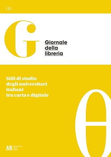 Stili di studio degli universitari italiani tra carta e digitale di Marina Micheli