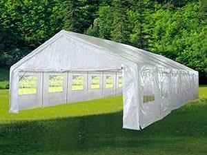Hochwertiges Festzelt Partyzelt Bierzelt Gartenzelt PE-Pavillon stabil wasserdicht 6 x 12 m weiß