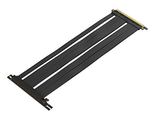 LINKUP [30 cm PCIe 3.0 [Future 4.0 Ready] 16x 64GB/s Extreme Shielded Twin-axial PCI Express Riser Cable Port Extension Card | 90 Degree Socket