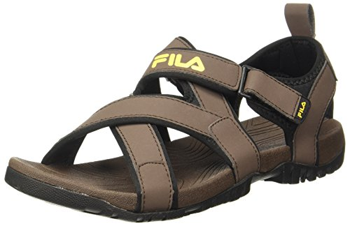 Fila Men's Pacific II Dk BRN Sandals - 9 UK/India (43 EU)(11004727)