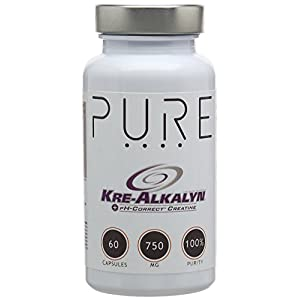 414l%2BvuoD%2BL. SS300  - Bodybuilding Warehouse Pure Kre Alkalyn CREATINE Monohydrate Capsules (60 Caps) No Loading Phase