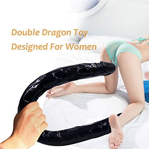 Preisvergleich Produktbild Doppelkopf Dildos Silikon 55Cm Extra Lange Realistische Penis Frauen Masturbator Weibliche Masturbation Schwanz Schwul Lesbische Sex-Spielzeug (Schwarz)