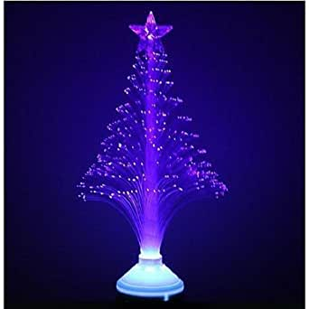 3W E27 fibra ottica fiore azzurro ha condotto la luce della fase della lampada albero bellezza di Natale (85-260V) , Blue