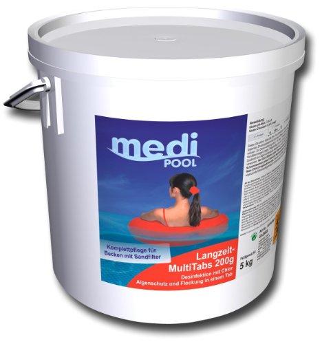 Chlor Multifunktionstabletten, Langzeit MultiTabs 200g, 5 KG mediPOOL