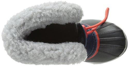 Sorel Yoot PAC Nylon, Unisex-Kinder Warm gefütterte Schneestiefel Blau (Collegiate Navy, Sail Red 464)