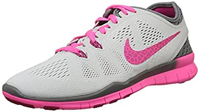 Nike Women's Free 5. 0 Tr Fit 5 Brthe Pr Pltnm/Frbrry/Cl Gry/Pnk Pw Training Shoe 6 Women US