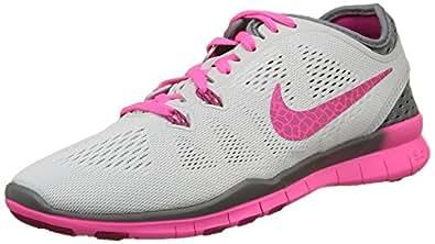 Nike Womens WMNS Free 5. 0 TR Fit 5 BRTHE, Black/Metallic Silver-Volt, 5 US