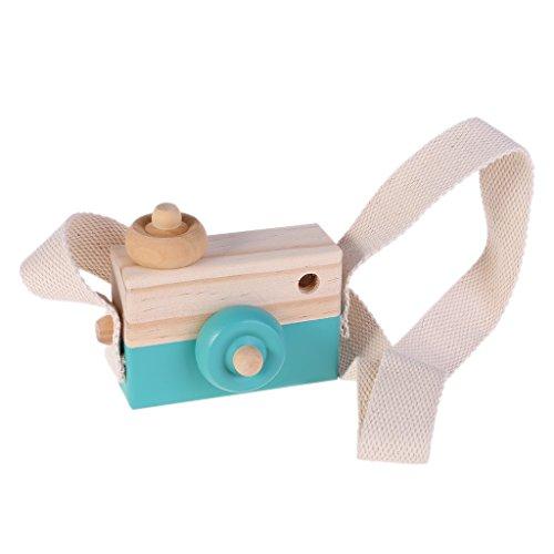LhiverFR 1008/5000 Jouet en Bois caméra Enfants Creative Neck Hanging Corde Jouets Photographie Prop Cadeau (Green)