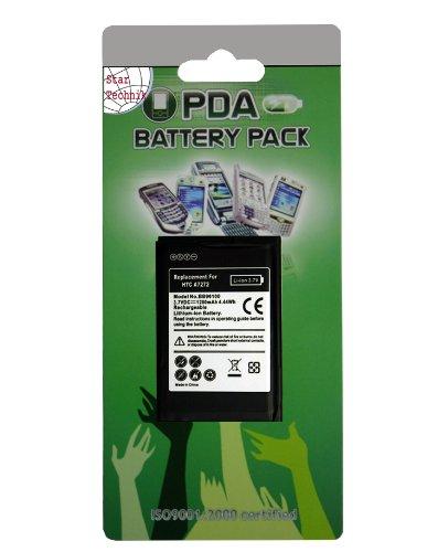 Akku für HTC Mozart 7 Touch Pro - starker Ersatzakku (Batterie) für HTC Touch Pro, Desire Z, Trophy, A 7272 T7272 MDA Vario IV, Sprint Xda Diamond Pro -1200mAh Li-Ion