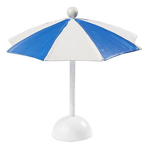 Sonnenschirm,blau-weiss, 10 x 10 cm