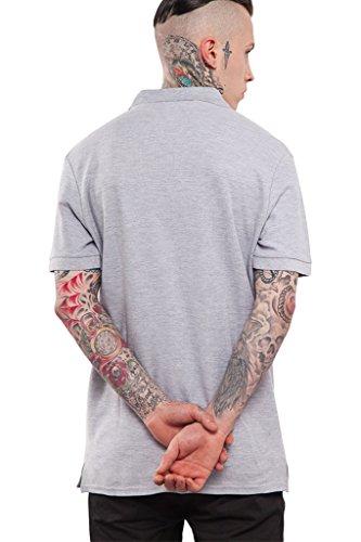 Herren Polo Shirt Casual, 5 Farben Kurzarm T-Shirt Tee mit Kragen von INFLATION Grau