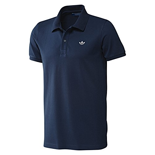 Adidas Originals da uomo Retro con trifoglio Basic Polo a maniche corte collo piqué Casual maglietta