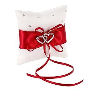 elegantstunning Ring Kissen Romantisch Charm, Liebe Herz 10 * 10cm Hochzeit Decoration