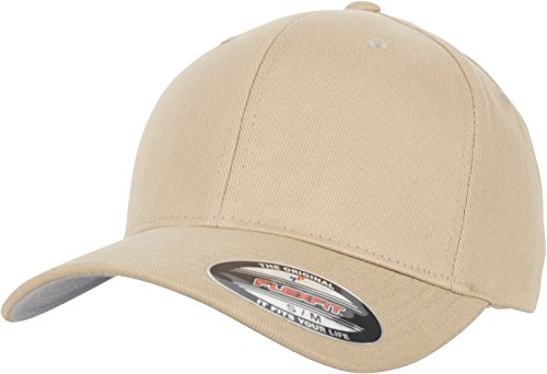 Flexfit Brushed Twill Cap, Khaki, L/XL Twill-fitted Cap