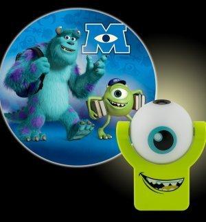 Pour enfant Projectable Monster University Inc Sully et Mike Veilleuse automatique
