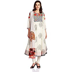 Biba Women's Anarkali Salwar Suit (SKD4327_Multicolor_34)