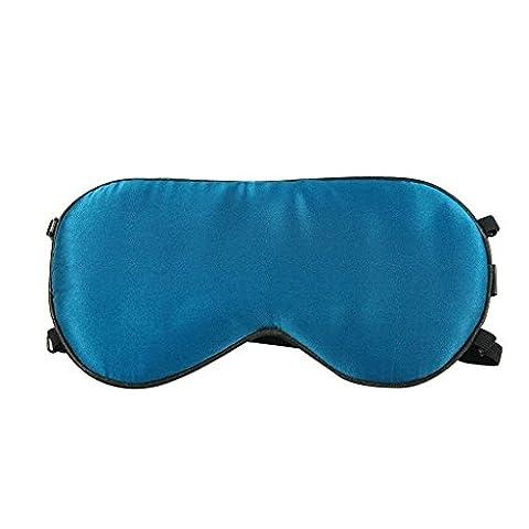 HYSENM Schlafmaske 2x Stücke Seide Hautpflege Leicht Samtweich Atmungsaktiv Abdunkeln Augenschutz zum Schlafbrille Nachtmaske Augenabdeckung Augenmaske für Zug Zuhause Flugzeug Reisen, Blau 2