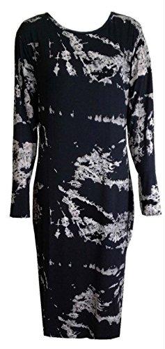 Fashion 4moins New femmes à manches longues robe Midi Bodycon Imprimé. UK 8–14 Tiedie