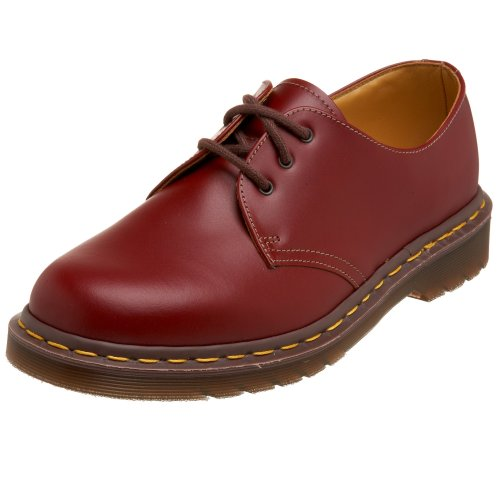 Dr. Martens 1461 Vintage Quilon Cherry Red, Chaussures à lacets Adulte Mixte Rouge (Red)