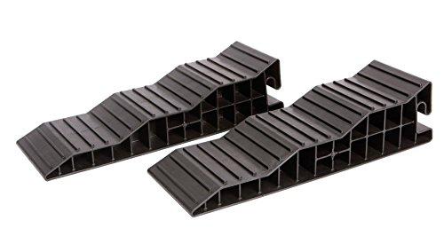 Froli Campingartikel Stützplatten 5324352Camper 3-steps Nivellierer, schwarz, 2Stück