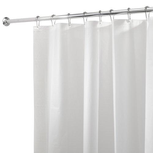 InterDesign 3.0 Liner doublure pour rideau de douche - grand rideau douche PEVA résistant à moisissure 180 -0 cm x 200 -0 cm avec 12 œillets - blanc