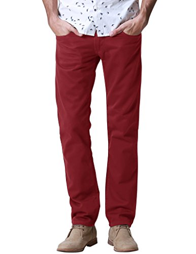 match-mens-slim-casual-trouser-8032red32