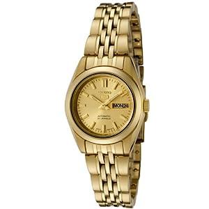 Seiko SYMA38K1 - Reloj con correa de acero para mujer, color dorado / gris de Seiko
