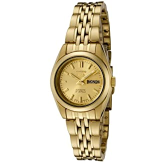SEIKO-Damen-Analog-Automatik-Uhr-mit-Edelstahl-Armband-SYMA38K1