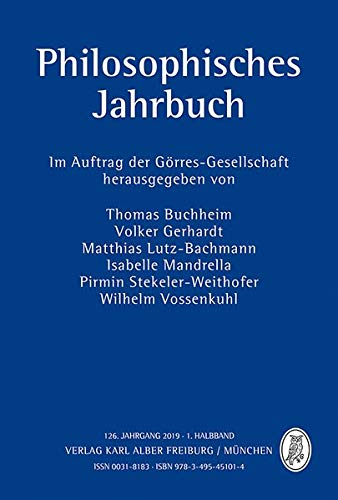 Philosophisches Jahrbuch: 126. Jahrgang, 1. Halbband