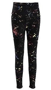 80s Women's Trousers Neon Splatter Leggings,XS-XL