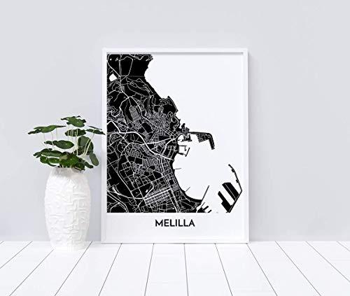 Mapa decorativo de Melilla