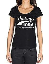 Vintage Aged to Perfection 1954, regalo cumpleaños mujer, camisetas mujer cumpleaños, vendimia añejado a la perfección camiseta mujer, camiseta regalo, regalo mujer