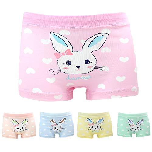 Mädchen Hase Unterhosen Baumwolle Unterwäsche Set für Kinder Rosa 10-11 Jahre
