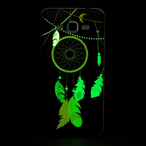 Coque Galaxy Grand Prime G530 Luminous,Transparent Coque pour Samsung Galaxy Grand Prime,Ekakashop Ultra Slim-fit Noctilucent avec Motif Hibou Coque de Protection en Soft TPU Silicone Crystal Clair So Campanula Luminous