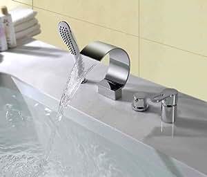 Verbreitet Wasserfall Badewanne Wasserhahn Zeitgenossisch - Chrome