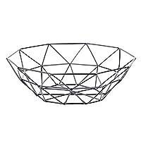 Rocita Axis Fruit Bowl Diversified Contempo Small Fruit Bowl Fruit Storage Basket Metal Fruit Basket Black