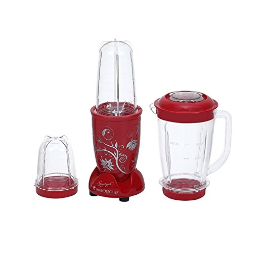 Wonderchef Nutri-blend 400-watt Juicer Mixer Grinder With Big Mixer Jar (red)