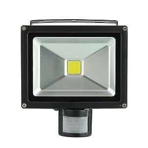 amzdeal® 10w 20W LED projecteur extérieur Projecteur Lumière avec détecteur de mouvement IP65 6000K Blanc froid /chaud Remplace 160W(10w blanc chaud)