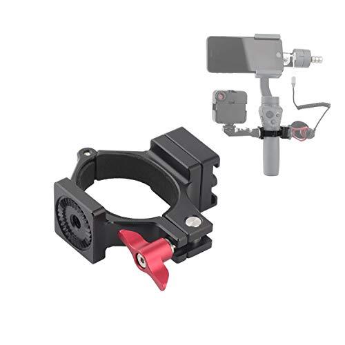 Zhiyou Mikrofonadapter mit Cold Shoe für DJI Osmo Mobile 3, Osmo Mobile 2 und Osmo Mobile 1