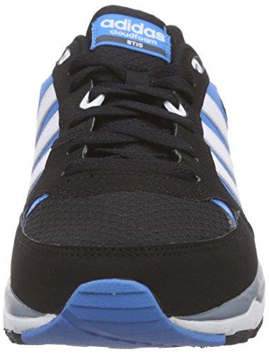adidas Cloudfoam 8Tis, Chaussures de Running Compétition Homme Noir / Blanc / Bleu (Negbas / Ftwbla / Azusol)
