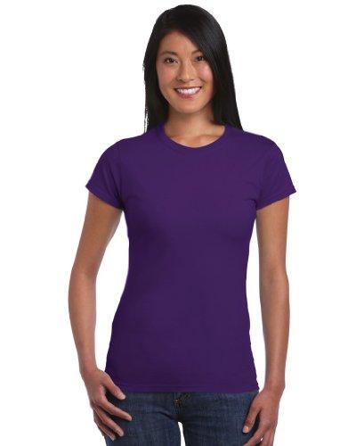 Gildan Softstyle ™ Frauen ringgesponnene T-Shirt Lila L (T-shirt 64000l)