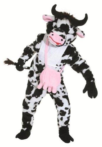 Orlob Plüsch Kostüm Big Kuh Maskottchen Kuhkostüm Rind Karneval Fasching