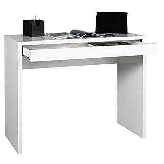 Avanti Trendstore - Schreibtisch mit 1 Schubkasten in weiß Dekor, ca. 100x80x40 cm