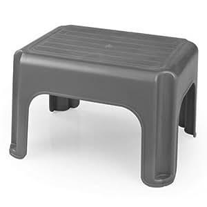 whitefurze h23212 plastic stool 40 cm silver amazoncouk kitchen u0026 home
