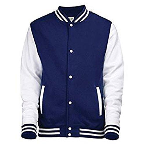 AWDis -  Giacca  - ragazzo Oxford Navy/ White 12-13 Anni