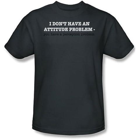Perception problema-Maglietta da uomo, colore (Problema Nero Tee)