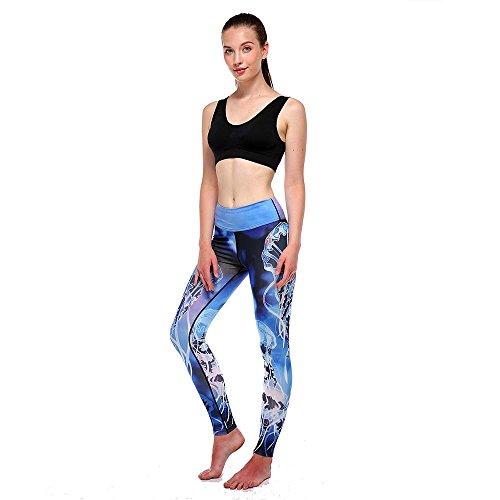 TianWlio Leggings Damen Frauen Sport-Leggings Jogginghose Printed Streifen Hüfthose Strumpfhose Leggins Hose Strumpfhose Schwarz Workout Stretch High Elastic Yoga Hosen Pants (Zebra-streifen-lampe)
