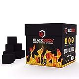 BLACKCOCO's | 1KG | Premium Kokosnuss Naturkohle für Shisha & BBQ [Shisha Kohle]