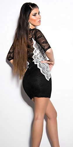 In-Stylefashion - Robe - Femme Marron Marron - Schwrazweiss