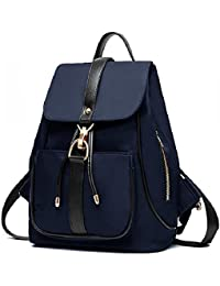 Holly Store Nylon Waterproof Backpack Leisure Shoulder Bag Travel Bag Blue By Sokdo